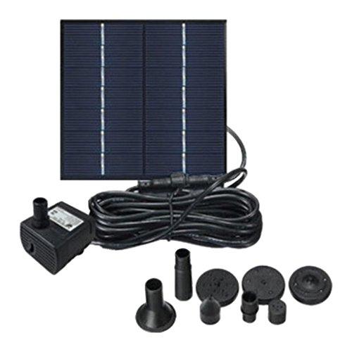 LOVIVER Panel De Bomba De Agua con Energía Solar, Agua Funtain para Jardín, Patio, Jardín, Estanque, Decoración - Negro 1