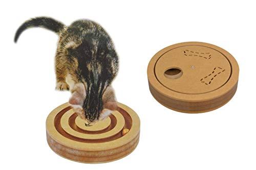 BURI Holzschnecke Katzenspielzeug Hundespielzeug Beschäftigungsspielzeug Spielbrett