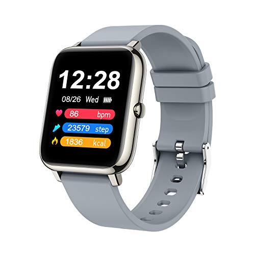 Judneer Smartwatch, 1.4 Zoll Touch Farbdisplay Fitness Watch, Fitness Tracker Sportuhr, Fitnessuhr mit IP67 Wasserdicht und Schrittzähler, Pulsmesser und Schlafanalyse Smart Watch für Damen Herren