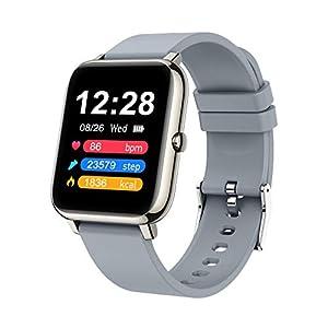 Judneer Smartwatch, 1.4 Zoll Touch Farbdisplay Fitness Watch, Fitness Tracker Sportuhr, Fitnessuhr mit IP67 Wasserdicht und Schrittzähler, Pulsmesser und Schlafanalyse Smart Watch für Damen Herren