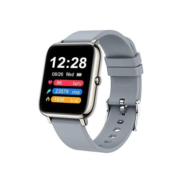 41vNTsvU51L. SS600  - Judneer Smartwatch, 1.4 Zoll Touch Farbdisplay Fitness Watch, Fitness Tracker Sportuhr, Fitnessuhr mit IP67 Wasserdicht und Schrittzähler, Pulsmesser und Schlafanalyse Smart Watch für Damen Herren