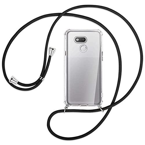 mtb more energy® Handykette kompatibel mit HTC Desire 12s (5.7'') - schwarz - Smartphone Hülle zum Umhängen - Anti Shock Full TPU Hülle