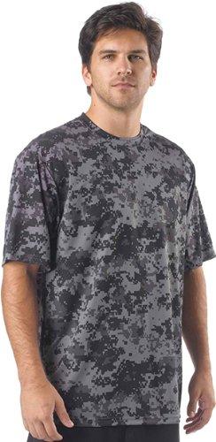 Authentic Sports Authority Graphite Adult 4-XXXXL CAMO Moisture Wicking Crewneck Jersey/T-Shirt