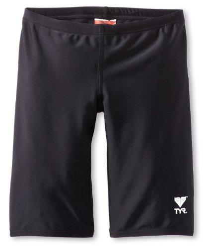 TYR Sport Boys  Solid Jammer Swim Suit,Black,28