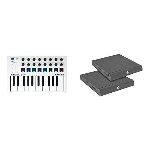Arturia 230501 Controller & Adam Hall Stands PAD ECO 2 - Absorberplatte für Studio Monitor 265 x 330 mm
