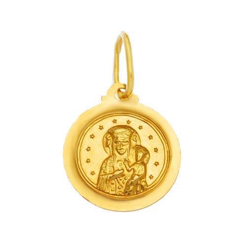 Colgante Virgen María con niño Jesús oro colgante 58514KT