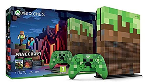 Xbox One S Minecraft Bundle 1TB Limited Edition Console - PEGI version for use in U.S. (Discontinued)