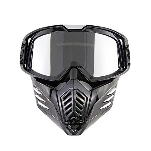 Gafas Al Aire Libre, 2 En 1 Gafas De Máscara con Gafas Extraíble Y Filtro De Boca, 2020 Nuevos Hombres Y Mujeres del Estilo De Gafas De Esquí, Gafas Y Gafas De Sol De Carreras De Motocross,C
