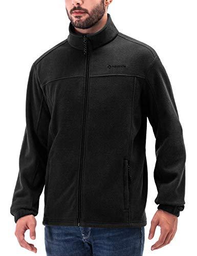 NAVISKIN Herren Fleecejacke warm Fleece Jacket schwarz Größe M