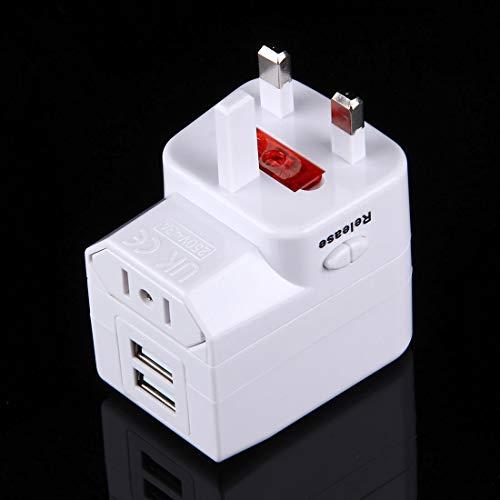 Travel Adapter USV Sicherung World-Wide Universal Travel Adapter mit eingebauter Dual USB Ports Ladegerät for USA, Großbritannien, AU, EU, Liqingshangmao.