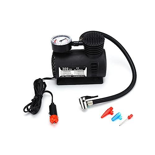 ATING Auto coche eléctrico bomba de aire 300PSI portátil neumático compresor bicicleta inflador con manómetro
