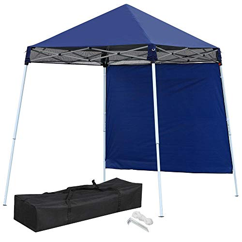 Yaheetech Outdoor Portable 8 x 8ft POP UP Canopy Party Waterproof Tent for Hiking/Camping/Fishing/Picnic/Garden/Yard/Patio with Sidewall and Carry Bag
