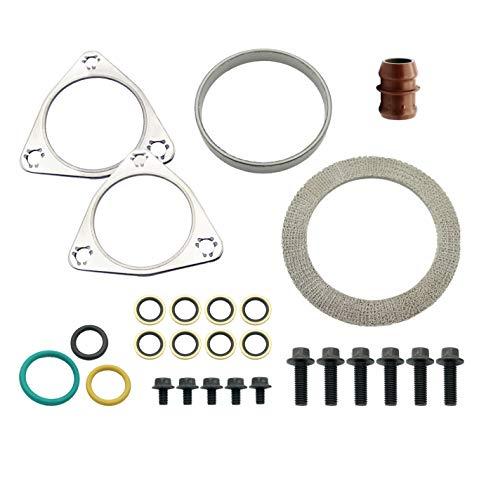 MOTIV8 6.4L Powerstroke Turbo Mounting Seal Kit for Ford Super Duty 2008-2010 F250 F350 F450 F550 6.4L V8 |Turbocharger Rebuild Install Kit | Replaces 8C3Z9T514C SW8C3Z9T514C 1876540C92