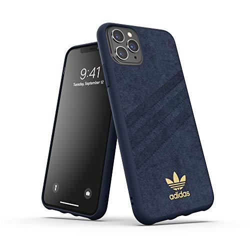 adidas Originals Kompatibel mit iPhone 11 Pro Max Hülle, Schutzhülle geformte Alcantara Handyhülle - Collegiate Royal
