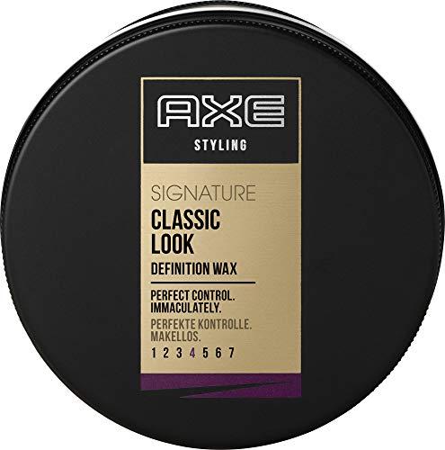 AXE Styling Wachs für kurzes bis mittellanges Haar Signature Classic Look langanhaltend, 6er Pack (6 x 75 ml)