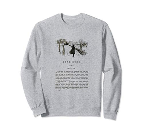 Jane Eyre Charlotte Bronte First Page with Illustration Sweatshirt