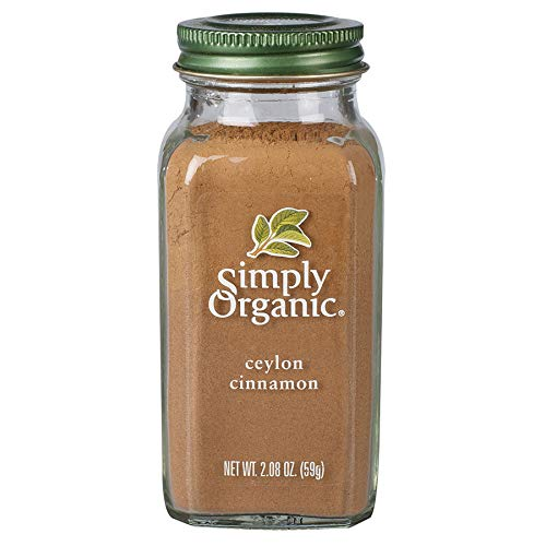 Simply Organic Ground Ceylon Cinnamon, Certified Organic, Vegan | 2.08 oz | Pack of 3 | Cinnamomum verum J. Presl