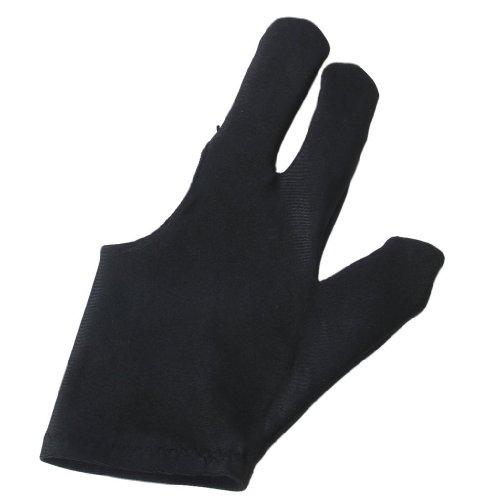 guanti - SODIAL(R) Professionali Biliardo Mano sinistra tre dita aperte guanto della punta delle dita