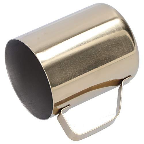 Barra de acero inoxidable 304 de una sola capa de la taza de la bebida de la taza de la cerveza de la taza de café para el restaurante casero(Golden)