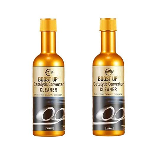 2Pcs BoostUp Catalytic Converter Cleaner - Lower Emission Levels, Better Engine Performance, Safe & Effective for Vehicles, Protect Engine, Clean The Entire System (120ml) (2PCS)