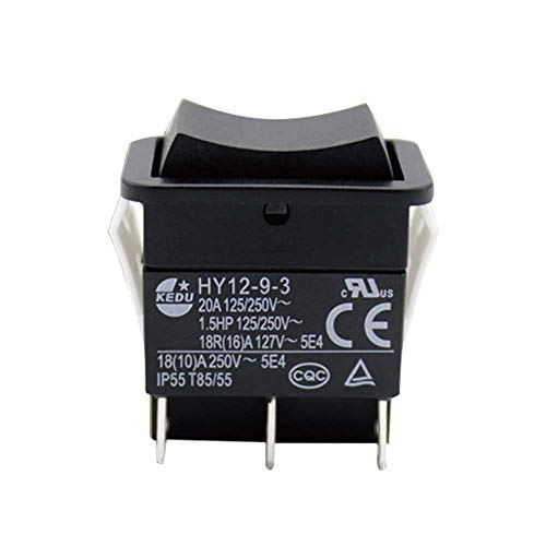 ompait HY12-9-3 6Pins Industrial Electric Rocker Switch 125V/250V Pushbutton