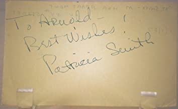 Patricia Smith Vintage Autograph - 3x5 Paper - Inscribed - TV & Film Actress - Born: 1930 / Died: 2011 - Spirit of St. Louis / Save the Tiger / Mad City / Twilight Zone / The Invaders - Very Collectible - Rare
