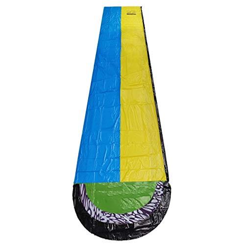 N\A Deportes de Agua para Hombres y Mujeres Slide Doble Grande Racer Piscina Surf Verano de los niños al Aire Libre Jardín Juego de Regalo 480x140cm Agua Inflable