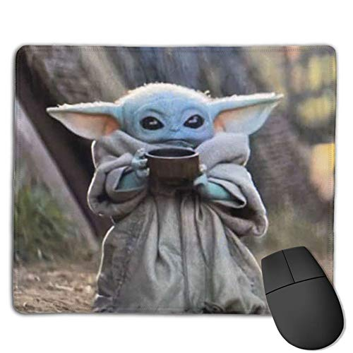Baby Yo-da Mouse Pad Gaming Non-Slip Rubber Mousepad, Working or Game 8.6 x 7inch Mouse Mat