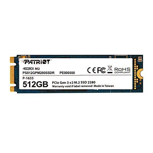Patriot Scorch m.2PCIe Solid State Drive mit 512GB Kapazität– PS512GPM280SSDR