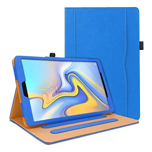 WeeYuu Custodia per Samsung Galaxy Tab A 10.5 T590/T595 2018, Premium PU Cover Smart Cover con funzione Auto Sleep/Wake per Samsung Galaxy Tab A 10.5 pollici 2018 SM-T590/SM-T595 Tablet PC (Blu)
