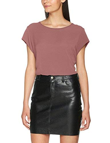 Only Onlvic S/s Solid Top Noos Wvn Camiseta sin Mangas, Rosa (Mesa Rose), X-Large (Talla del Fabricante: 42) para Mujer