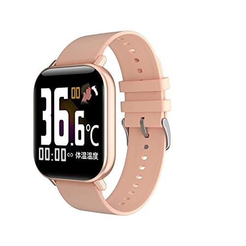 con Temperatura Corporal Hombres Mujeres Ritmo cardíaco Ritmo sanguíneo Monitor de Pisos Fitns (Color: Gris de Silicona) DAKSL (Color : Silicone Pink)