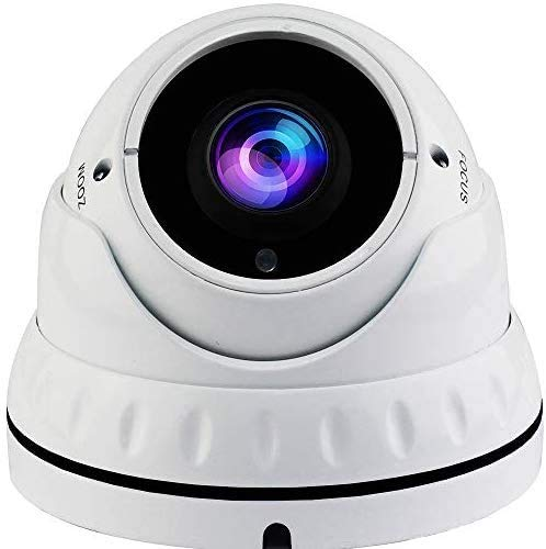 Lowest Price! SVD 5MP 4in1 (TVI, AHD, CVI, CVBS) Indoor Outdoor Dome Camera DWDR OSD menu for CCTV DVR Home Office Surveillance Security (White) (5MP 2.8-12mm Lens, White)