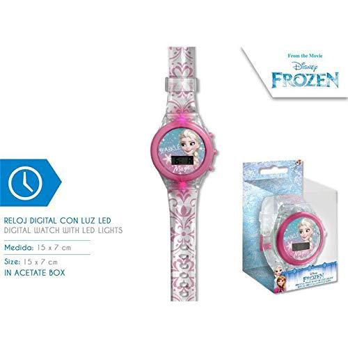 Frozen Reloj Digital led Pulsera, Adultos Unisex, Multicolor, Unico
