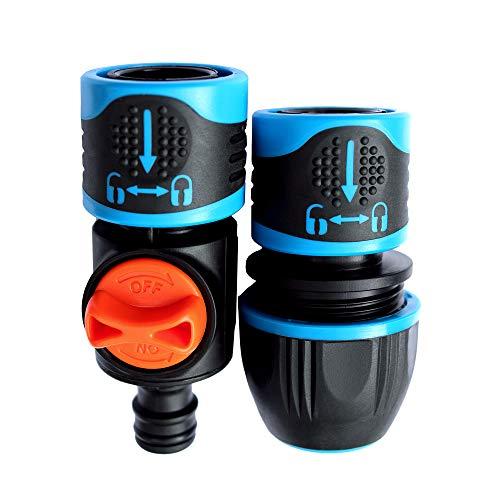 GRÜNTEK Schlauchverbinder und Connector Set 1/2', 3/4', 5/8' mit Wasserstop, Aqua-Stopp System. Schlauchkupplung