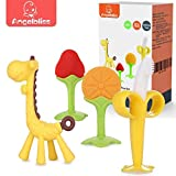 ANGELBLISS Teething Toys (4 Pack) Baby Teething Toys Set/Baby teether chew...