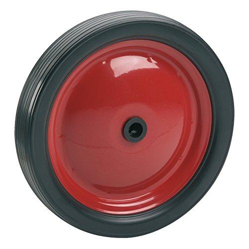 Dörner + Helmer 709312 PVC-Rad mit Stahlfelge rot und Rillenprofil 180 x 30 x 12 mm Nabenbreite 35 mm