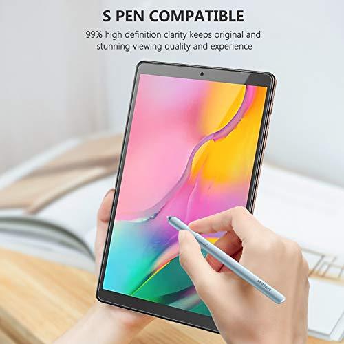 SPARIN 2 Stück Panzerglas Schutzfolie kompetibel mit Samsung Galaxy Tab A 10.1 2019 (T510N/T515), Montagerahmen