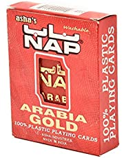 NAP ARABIA GOLD PLASTIC PLAYING CARD