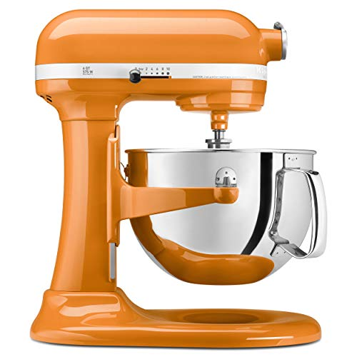 KitchenAid KP26M1XTG 6 Qt. Professional 600 Series Bowl-Lift Stand Mixer - Tangerine