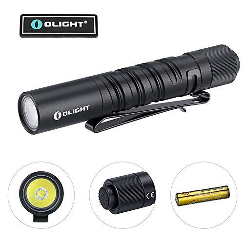 Olight I3T EOS 180 Lumens Dual-Output Slim EDC Flashlight for Camping and Hiking, Tail Swith Flashlight with AAA battery
