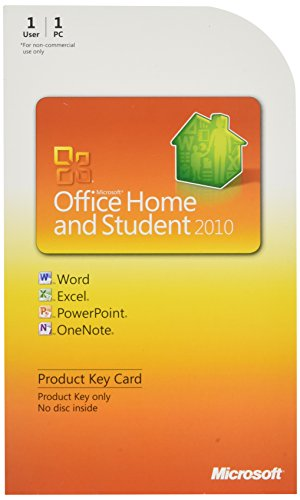 Microsoft Office 2010 Home and Student, 1 User [Product Key Card Only] (PC) [import anglais]