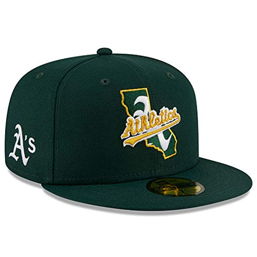 New Era MLB Oakland Athletics Local 59Fifty - Gorro ajustado para hombre