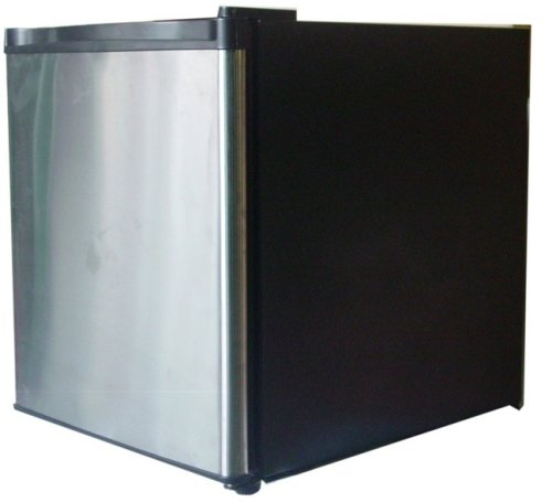 RCA FR180 RFR180 1.6 Cu Ft Fridge, Stainless Steel Refrigerator