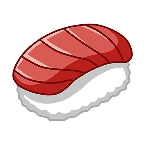 kawaii Sushi, Maguro Nigiri-Sushi Aufkleber–Innen- und Außeneinsatz.