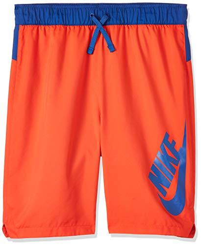 Nike Jungen B NSW Woven Short kurz, Rot/Blau (Habanero red/Indigo Force/Indigo Force), S