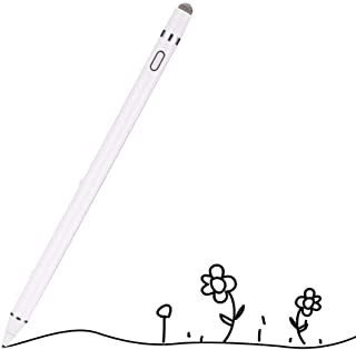 CHIALSTAR Active Stylus Digital Pen with 1.5mm Ultra Fine Tip Compatible for iPad iPhone Samsung Tablets, Work at iOS and Android Capacitive Touchscreen,Good for Drawing and Writing on IPAD (White)