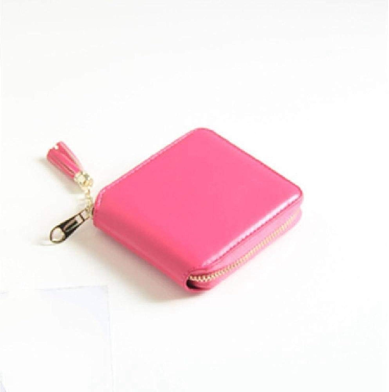 Girls Purse Women's Wallet,Lady Purse Tassel Pendant Short PU Wallet (color   C)