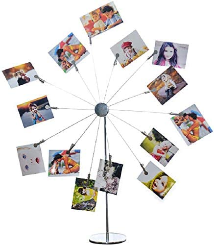 Mollytek Desktop Photo Holder with Clips Postcard Gift Card Picture Display Stand Decor Photo product image