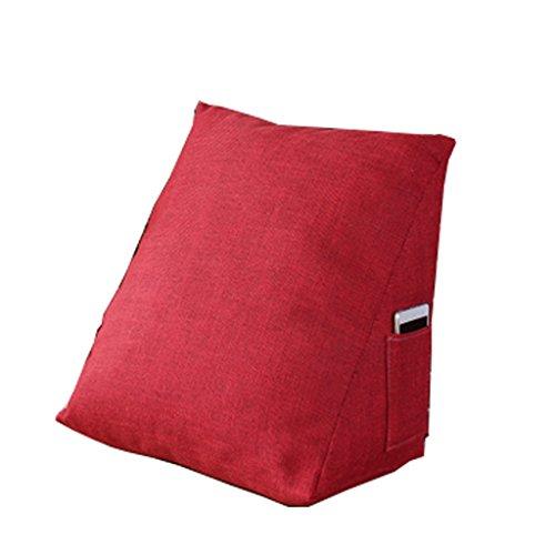 Oreiller Fu Man Li Trading Company Coussin Triangulaire Coussin de Coussin de Bureau Coussin de canapé-lit Coussin de Coussinet A+ (Couleur : Rouge)